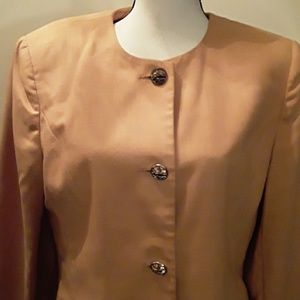 OLEG CASSINI: Mid long Peach Jacket